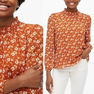 J. Crew | NWT Floral Smocked Long Sleeve Top